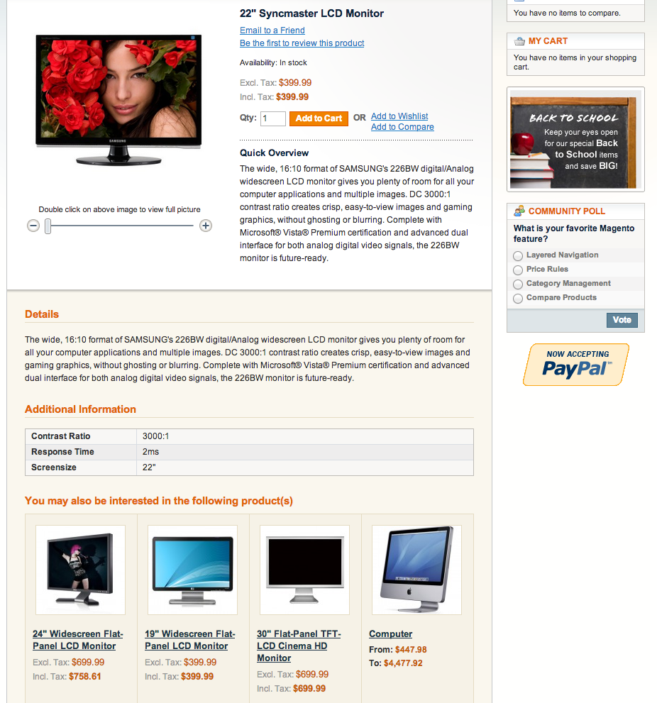 Related products, Upsells, Cross-sells in Magento
