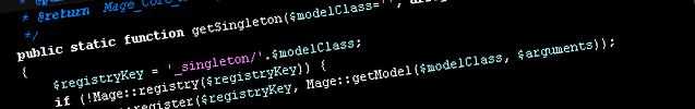 Making use of Magento getSingleton method