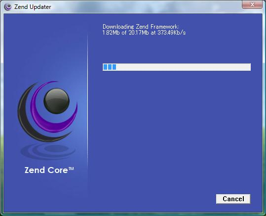 Downloading ZEND framework
