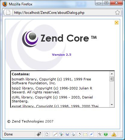 about zend core