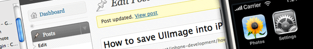 How to save UIImage into iPhone's saved photos album?