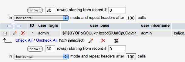 wordpress user account password reset
