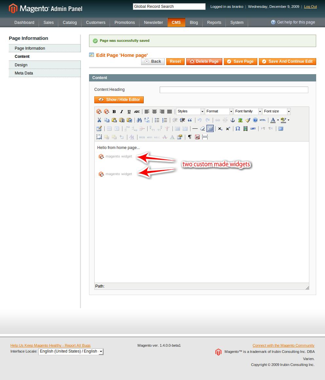magento admin panel blank widget 1