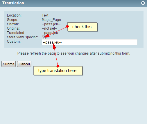 Inline translation step 2
