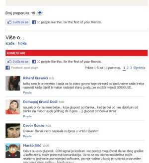 jutarnji and facebook widgets