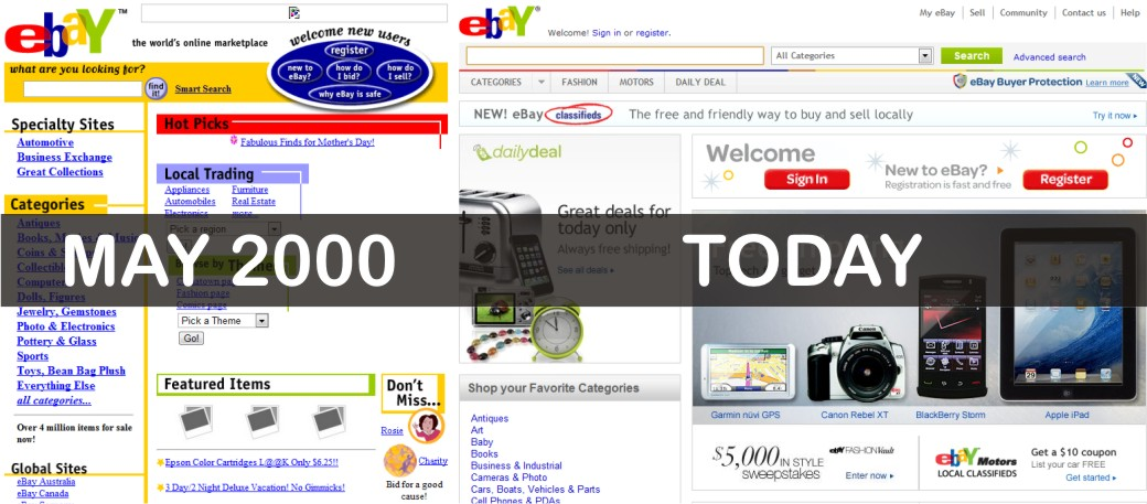 ebay 10 years ago and now