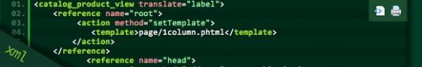 Depicting local.xml code