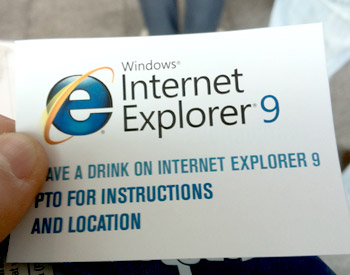 A drink on Ie9