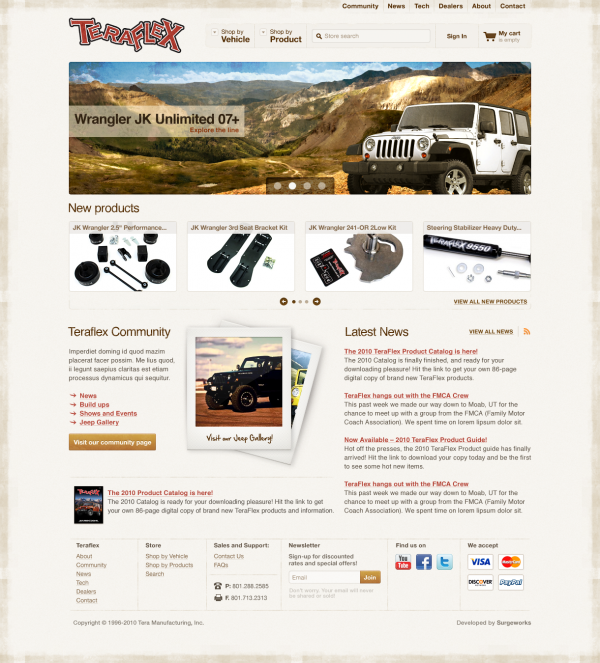 Teraflex-Design-Home page