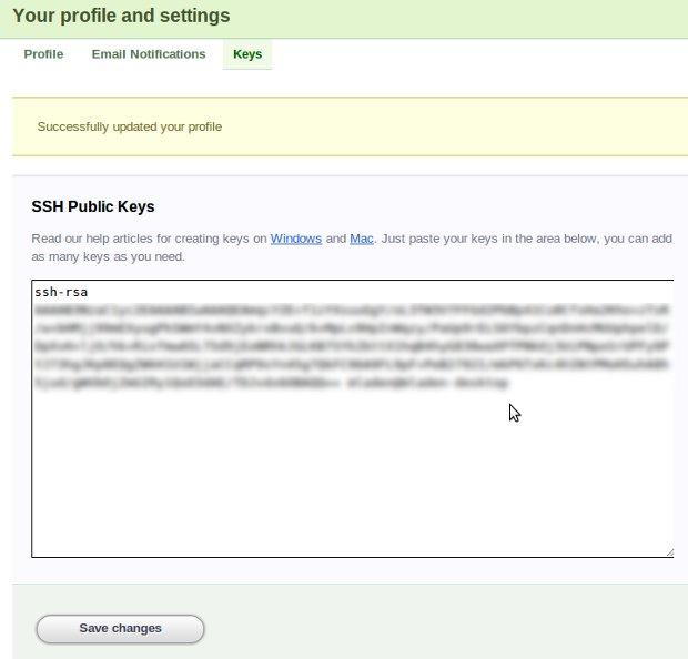 git client ssh-keygen public key