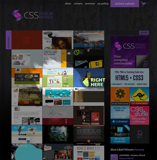 Our New Design is Nominated for a CSS Award - Vote for us