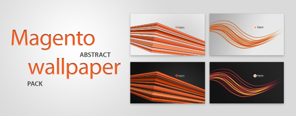 Magento abstract wallpaper pack