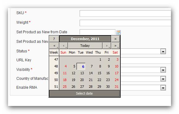 Reusing Magento's calendar control • Inchoo