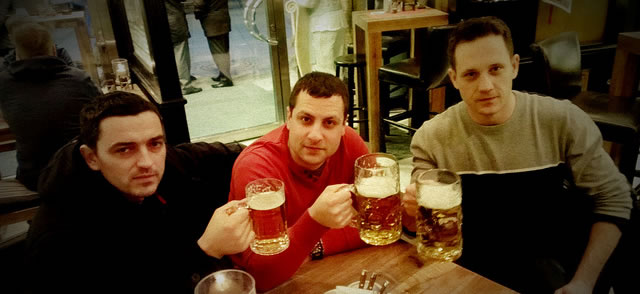 Drinking Beers in Munich