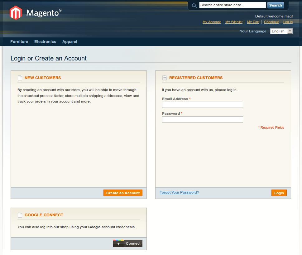Customer/account/login - Customer Login