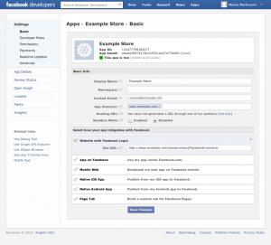 Facebook App Step 4