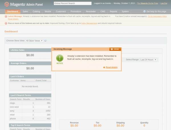 Amasty - Dashboard Magento Admin