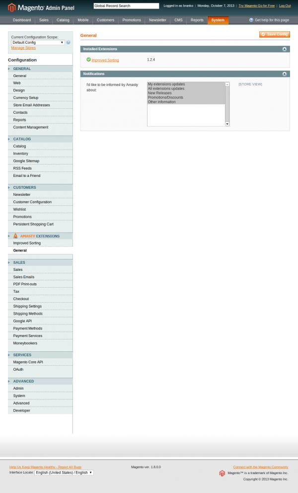 Configuration-System-Magento Admin 2