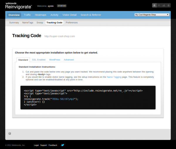 Reinvigorate-Tracking-Code