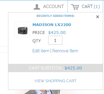 Magento mini cart checkout button missing while item in cart