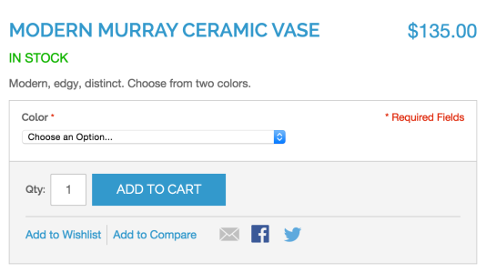 Configurable add to cart form