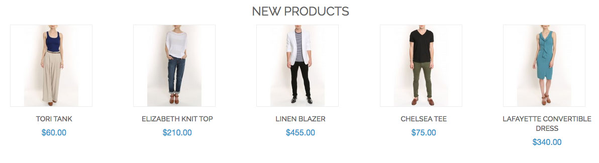 """Madison Island"" product listing"