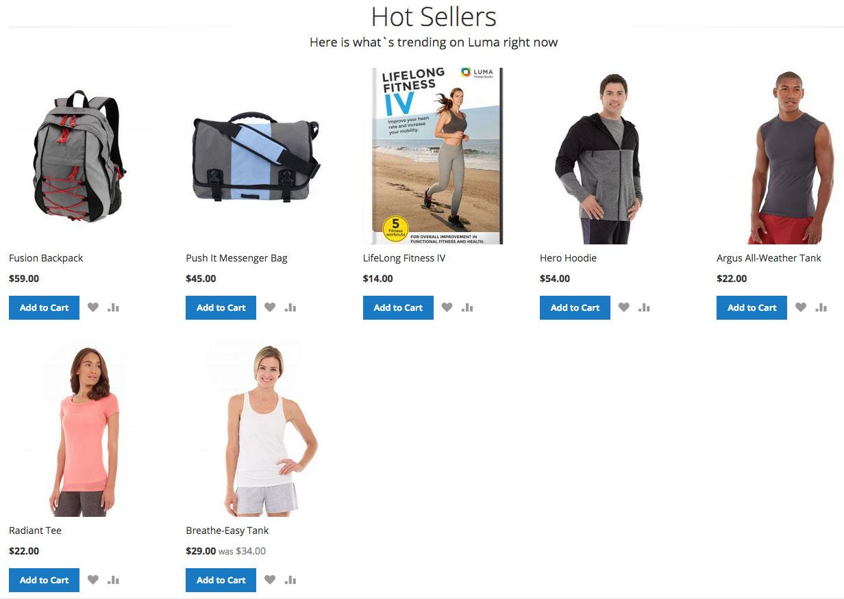 """Luma"" product listing"