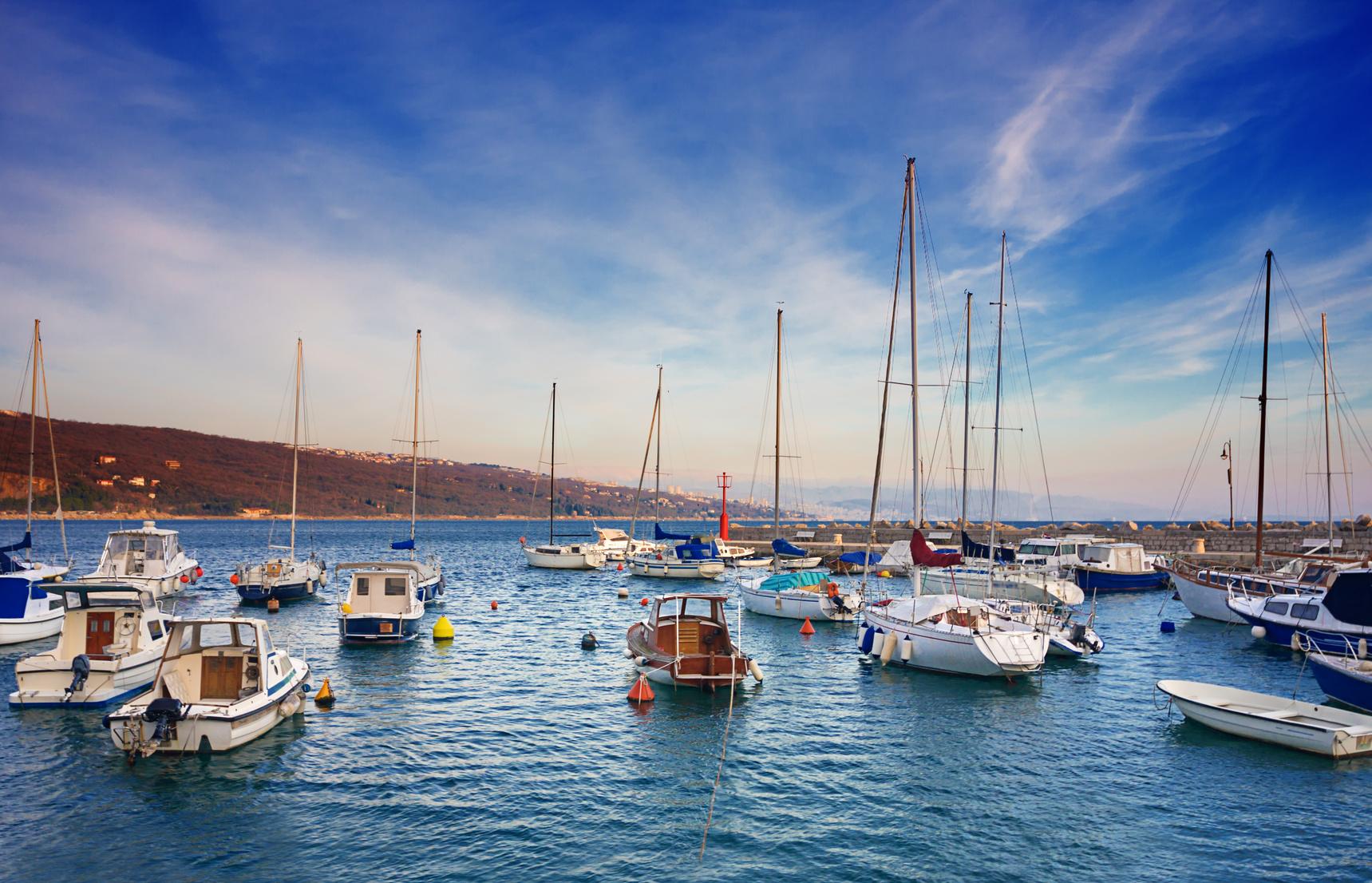 marina in Opatija. Croatia.