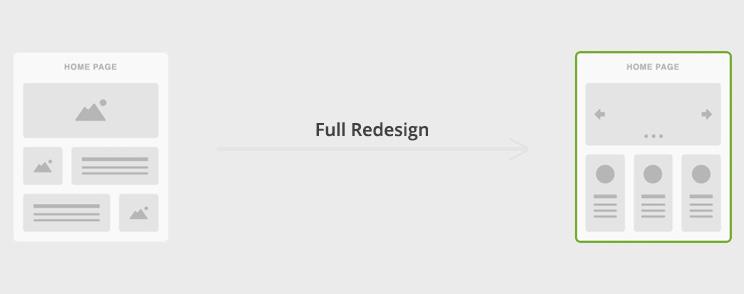 full redesign