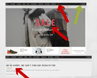 site search sale issue and why your visitors hate your online store