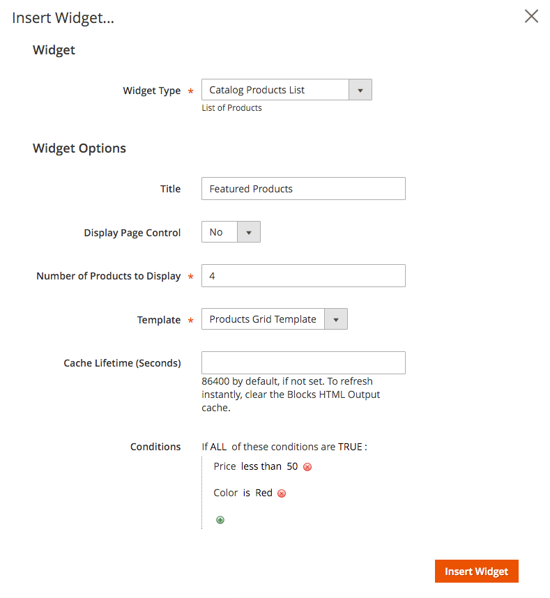 Product List Widget