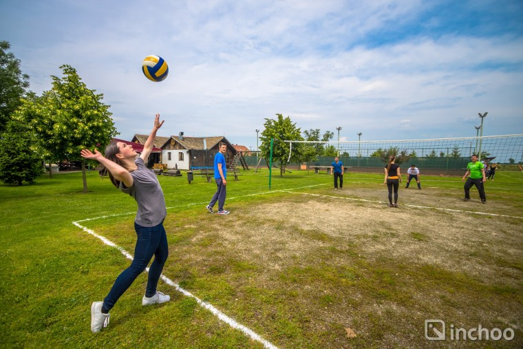 Playing volleyball at ILD