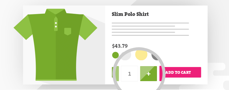 Add qty increment buttons to product page