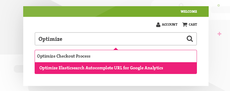 Optimize Elasticsearch autocomplete URL for Google Analytics