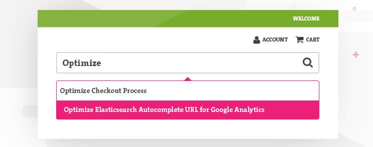 Optimize Elasticsearch autocomplete URL for Google Analytics • Inchoo