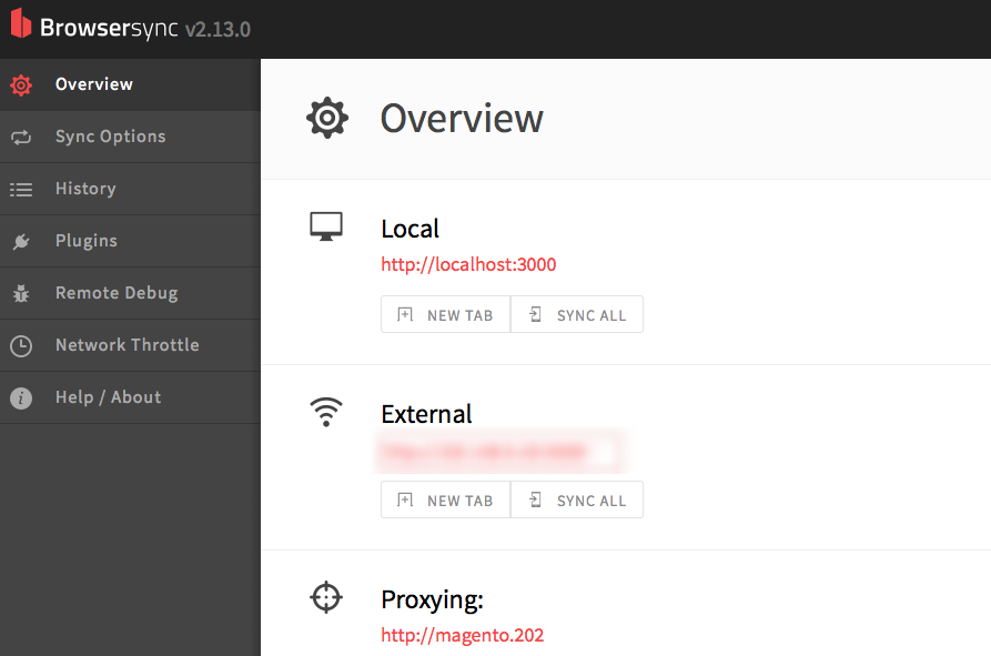 Browsersync UI