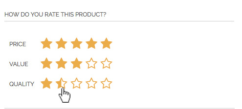 Improve default Magento reviews - our product review form
