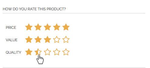Improve default Magento reviews - our product review form