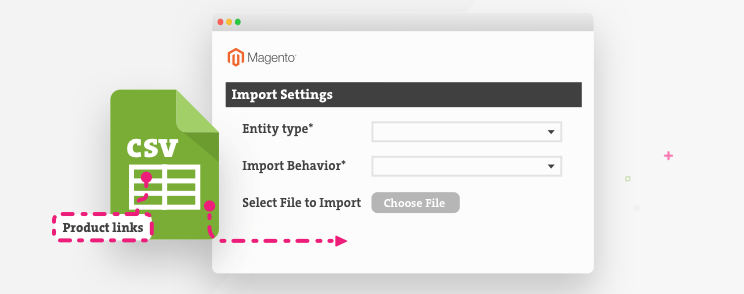 Product links on Magento CSV import