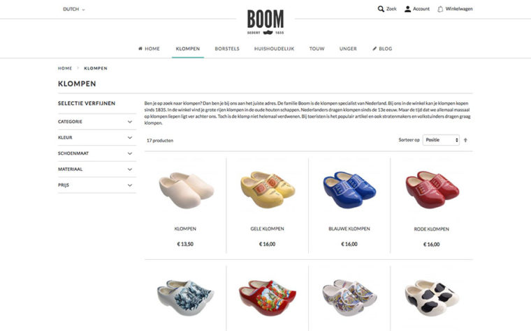 Boom Category Page