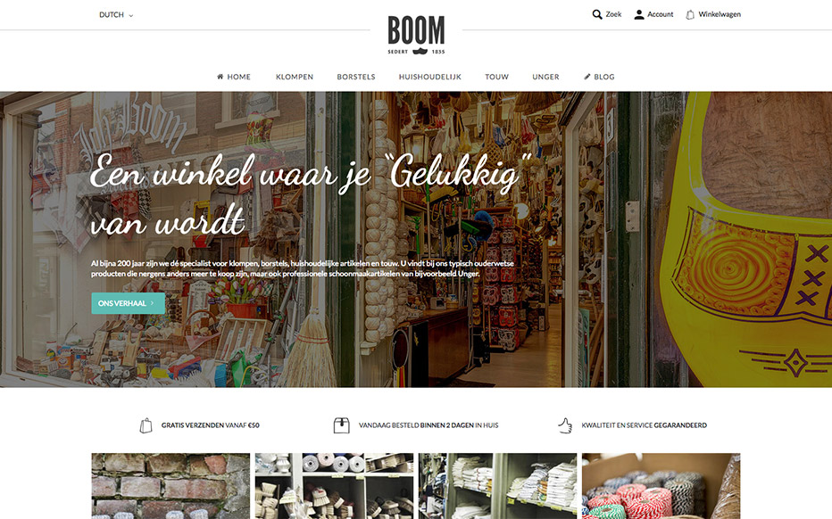 Boom Homepage