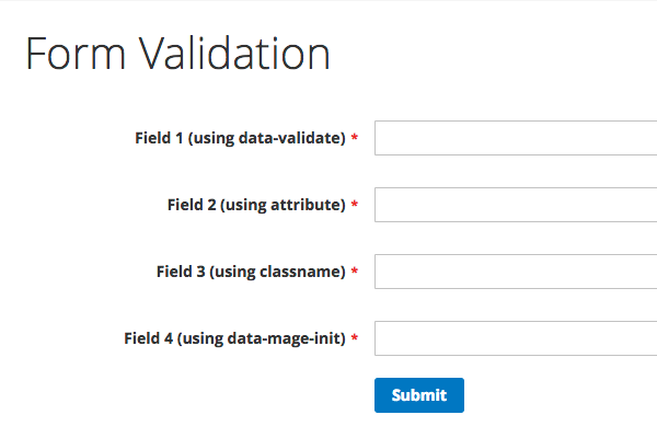 Validate a custom form in Magento 2 • Inchoo