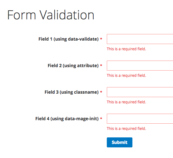 Validate a custom form in Magento 2 • Inchoo