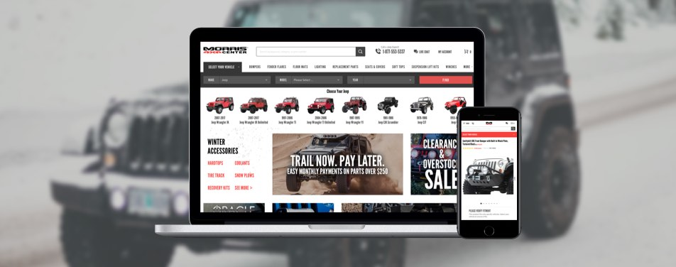 How we developed a new Morris 4×4 Center store – case study