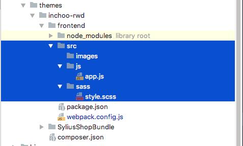 Sylius custom theme folder configuration