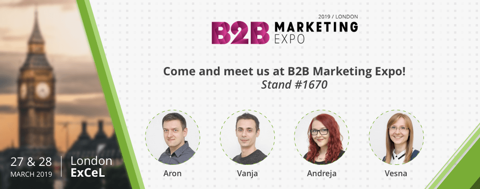 Meet us in London at B2B Marketing Expo!