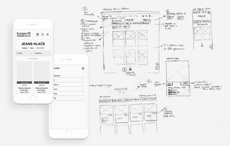 Wireframing Europa 92