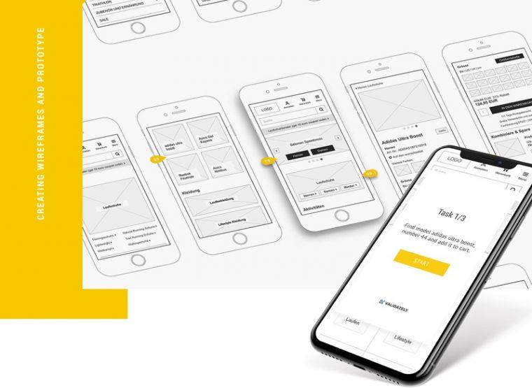 Inchoo portfolio shop4runners wireframes design process