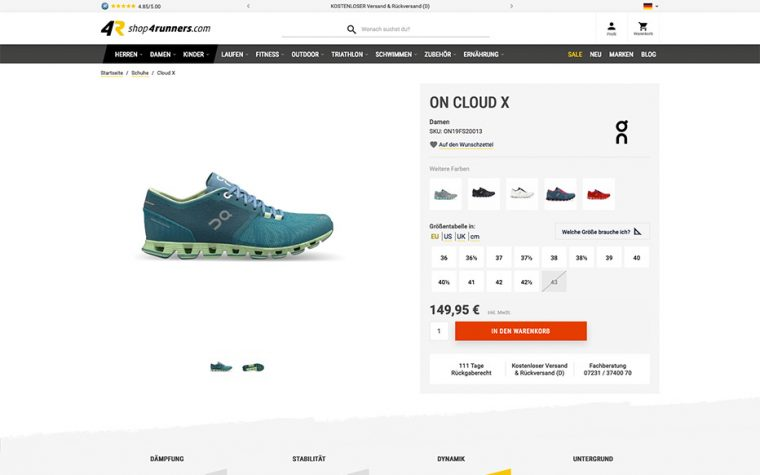 Shop4runners redesign technical Magento upgrade Inchoo work process