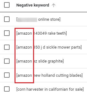 negative search terms example keywords2